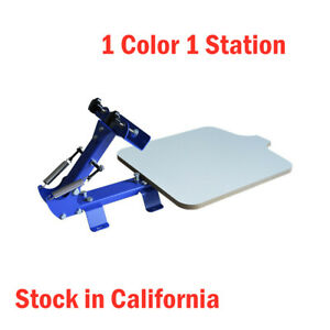 Us Stock 1 Color 1 Station Manual Silk Screen Printing Press For T Shirt Press