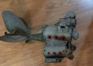 Vintage Hand Made Airplane Weathervane Folk Art