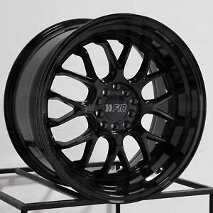18x8 5 F1r F21 5x100 5x114 3 38 Gloss Black Wheels Rims Set 4