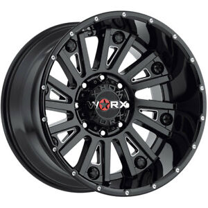 4 New 18x9 Worx 810bm Sentry Black Wheels Rims 12 8x170