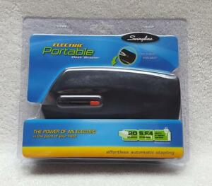 Swingline 48200 Electric Portable Desk Stapler 20 Sheet Capacity Black
