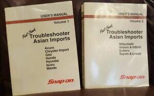 Snap on Diagnostic Fast Track Troubleshooter Asian Imports 1 2 User s Manual
