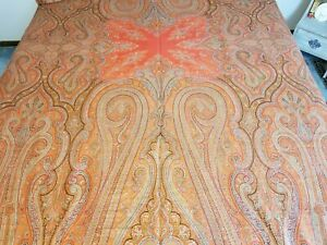 Mid 1800 S Kashmir Paisley Shawl English Kirking Shawl 120 X 61 Provenance
