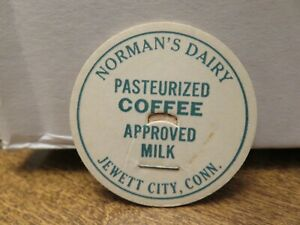 Older NORMAN'S DAIRY (JEWETT CITY  CONN) PASTEURIZED COFFEE APPROVED MILK LID