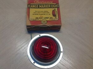 Nib Do ray Lamp Clearance Lamp No 1173 Red Glass Vintage Truck Travel Trailer