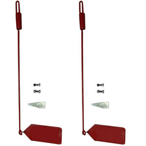 Two Snow Plow Blade Guide Markers Flags For Western 1308210