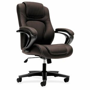 Basyx By Hon Executive High back Chair Brown Seat Brown Back 5 star