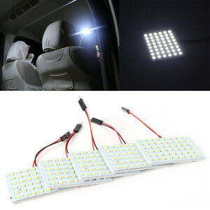 5pcs Car Interior 12v White 48 Smd 5050 Led Light Panel T10 Festoon Dome Ba9s