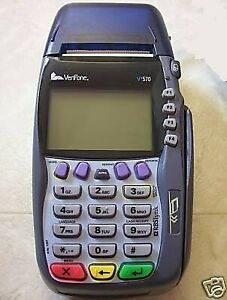 Verifone Vx570 5700 Dial 12 Mb Credit Card Machine Terminal Printer