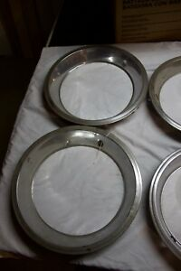 Four 4 Vintage Stainless Beauty Trim Rings For 1970 s 1980 s Chevy Pontiac