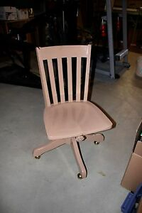 Antique Wooden Swivel Desk Chair Milwaukee Chair Co 1914