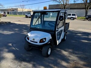 2014 Cushman 1200 Gas Utility Vehicle W 2 Door Steel Cab Only 121 Hours