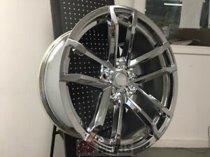 20 Zl1 Mach Style 41 Chrome Staggered Wheels Rims Fits Chevy Camaro 2010 Up Z28