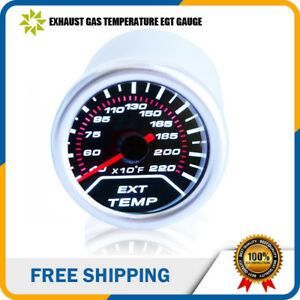 2 52mm Led Exhaust Gas Temperature Gauge 1 8 Npt Sensor Probe