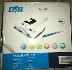 Dsb Cb 230 Punch Binding Machine For Up To 2 Plastic Comb