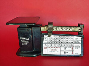 Working Triner Airmail Accuracy Postal Scale In Original Condition Exc Patina