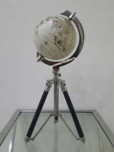 Nautical Authentic Retro World Globe With Table Tripod Stand Modern Style