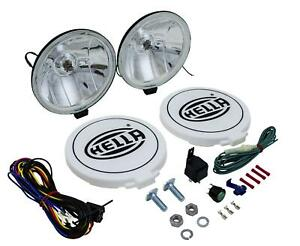 Hella 500ff Driving Lamp Kit 55w Round 6 42 Dia Clear Lens 005750941
