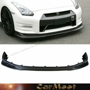 Fit Nissan 12 16 Gtr R35 Coupe Tuning K Type Carbon Fiber Front Bumper Lower Lip