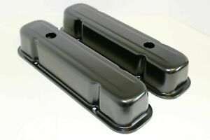 Pontiac Valve Covers Steel Black 326 350 389 455 Engines Tall Covers New Pair
