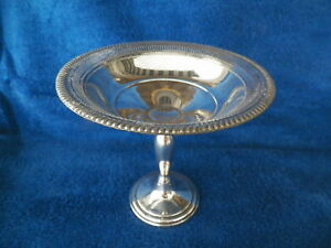 M Fred Hirsch Weighted Sterling Silver 631 Compote