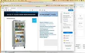 Kelvinator Commercial Glass Door Refrigerators two 18 Cu Work Perfectly