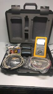 Fluke 660t Frame Relay Installation Assistant Tester Kit W 2 Modules And Cables