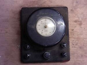 Vintage Cenco Central Scientific Company Electrical Meter 73511 0 100