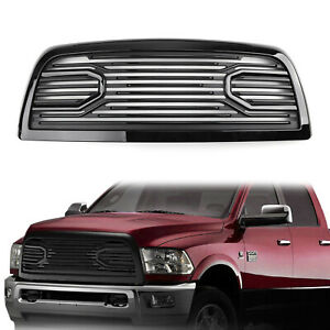 Black Big Horn Front Hood Bumper Grille Shell For 2010 2018 Dodge Ram 2500 3500