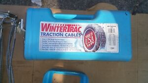 Peerless Wintertrac Traction Cables Tire Snow Chains 14 17 Tires Good Cond