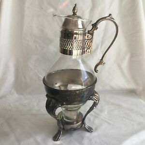 Vintage Wm Rogers Silver Plated Coffee Tea Pot Carafe Warmer Server In Box