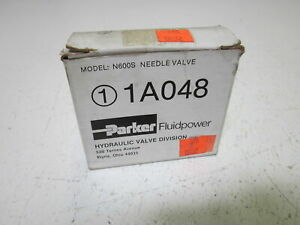 Parker 1a048 Needle Valve new In Box