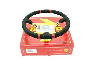 Momo Ultra Red 350mm Suede Racing Drift Competition Steering Wheel New