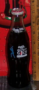 1996 ATLANTA OLYMPICS COCA COLA OLYMPIC CITY BASEBALL 8 OZ COCA COLA BOTTLE