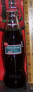 2006 HATTIESBURG COCA - COLA BOTTLING CO 100TH ANNIVERSARY 8OZ COCA COLA BOTTLE