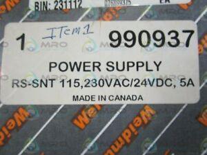 Weidmuller Power Supply Rs snt 115 new In Box
