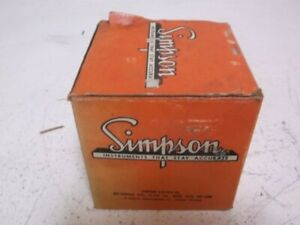 Simpson Sk 525 626 Voltage Meter 0 100 Amperes New In Box