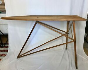 Vintage Mid Century Wooden Ironing Board Local Pick Up Only