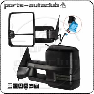 Tow Mirrors For 2003 07 Chevy Gmc Power Heated Signal Puddle Light Side View