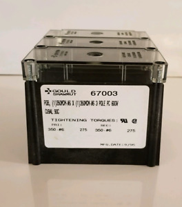 Gould Shawmut 67003 Power Distribution Block 3 pole 600 Vac