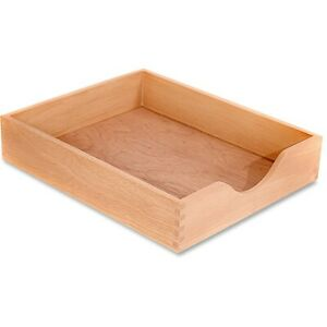 Carver Wood Oak Finish Desk Trays Cw07211