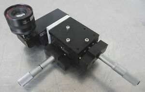 C158264 Del tron Xy 1 Micrometer Linear Positioning Stage Sony Ccd Video Camera