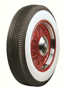 Pair 2 Coker Firestone Vintage Bias Tires 7 00 15 Bias ply Whitewall 587110