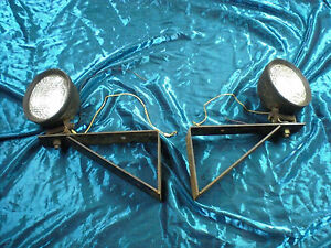 Pair Of Vintage Tractor Truck Auto Lamps Lights Running Lights
