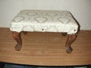 Antique Vintage Wooden Foot Stool