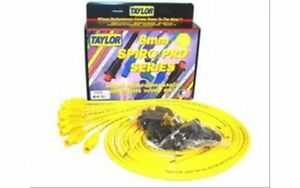Taylor Cable Spark Plug Wires Spiro pro 8mm Yellow Straight Boots Universal