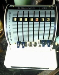 Vintage Paymaster Check Stamper Writer X 550 With Key