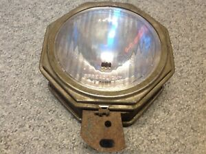 Octagon Driving Spot Lite Light Spreadlight Lens Glass Vintage Auto Truck Lamp