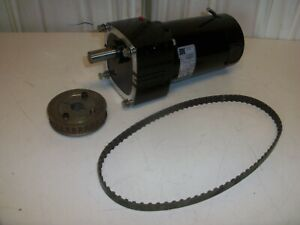 Bodine Gearmotor 42a5bepm e2 1 4hp With Pulley And Belt
