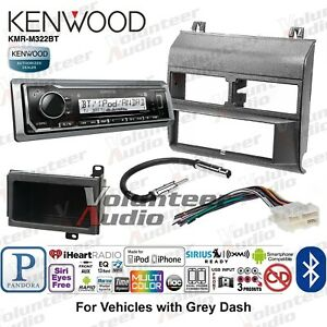 Kenwood Kmr M322bt Single Din Marine Media Player Radio Install Kit Bluetooth